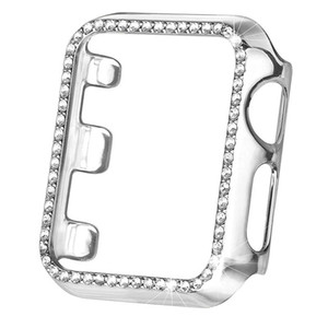 Para a Apple Assista iWatch cobertura de luxo cravejado de diamantes PC caso difícil All-inclusive tampa de protecção anti-queda para iWatch 4