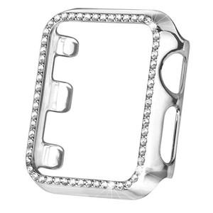 Für Apple-Uhr iWatch Abdeckung Luxus Diamanten besetzten PC harter Fall All-inclusive-anti-Fallschutzabdeckung für iwatch 4