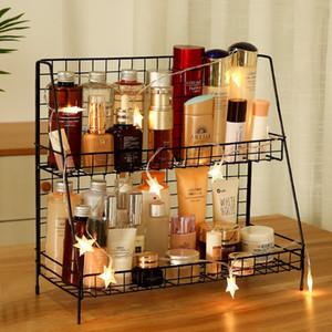 Neue Art und Weise Eisen-Racks Desktop Storage Racks Ins Haushalt Doppel Küche Schreibtisch Kosmetik Finishing-Rack Storage Basket