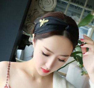 2020 Designer 100% Silk Headband hair fashio bands for Women Newest Luxury high quality bee headbands free shipping