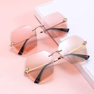 Moda online Sconto per unisex UK Sunglasses Sunglasses Frameless Sunglasses Donna Eyewear Trimming Girls Lens Frameless Polygonal Fjujm