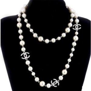 새로운 여성 패션 목걸이 천연 진주 목걸이 스웨터 다층 다이아몬드 목걸이 가져 오기 크리스탈 브로치 신부 보석 쥬얼리 A962