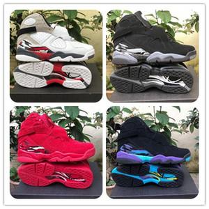 Avec la boîte 2019 8 chaussures de basket rouges de la Saint-Valentin 8s Aqua Chrome COUNTDOWN PACK Athlétisme Baskets Taille7-13 Livraison Gratuite