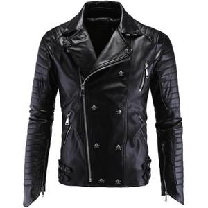 Aowofs High-End Boutique Punk MÄNNER Ledermantel Carrie Leder Locomotive Mantel Slim Fit Jacke Y998