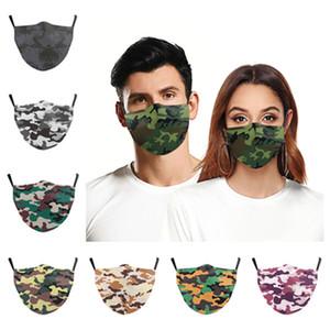 new Camouflage mask 3D digital Floral Print Mask Breathable Mouth Masks Anti Dust Reusable Face mask Designer masks T2I51124