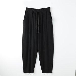 Мужские брюки весна лето плюс размер мужчин 5xL 6xL 7XL 8XL талия 140см хлопчатобумажные льняные брюки большие 5 цветов