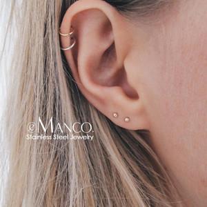 e-Manco korean style stainless steel earrings for women Minimalist Small Stud Earrings Set Fashion Jewelry