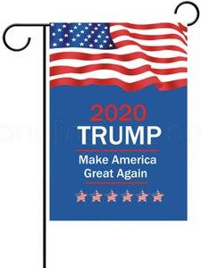 USA 선택 2020 대통령 지원 야외 장식 파티 호의 소품 배너 30 * 45cm TRUMP 정원 플래그를 13styles FFA4017-7