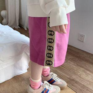 2020 Summer Baby Girl Юбки Мода малышей Девушки Розовый Твердая Юбки Юбка Детские вязаные одежды детей
