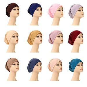 무슬림 여성 내부 히잡 여성들의 머리 수건 착용 캡 이슬람 모달 Underscarf 모자 핫 닌자 스카프 라마단 스트레치 코튼 보닛 모자의 CYP772