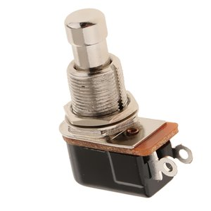 1 Pieza del botón del metal interruptores de pie del pedal del botón de enclavamiento Stomp Pedal interruptor a prueba de herrumbre para varios instrumentos