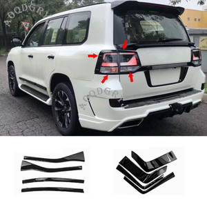 Car Styling Accessori ABS nero lucido posteriore Fanale posteriore modanatura strisce 8pcs per Toyota Land Cruiser 200 2016-2019
