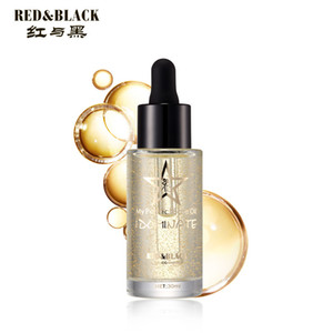 Red&black Professional 24k Rose Gold Elixir Makeup Primer Anti-aging Moisturizer Face Care Essential Oil Makeup Base Liquid
