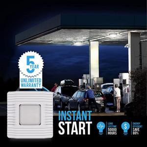 LED Canopy Light Fixtures Sali brillante, Daylight 5000K HID / HPS sostituzione, impermeabile IP65 Gas stazione Garage Luce UL Listed DLC