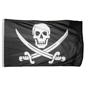 bones pirate skull crossbones flag 5x3ft 150x90cm Polyester Printing Indoor Outdoor Flag With Brass Grommets Free Shipping