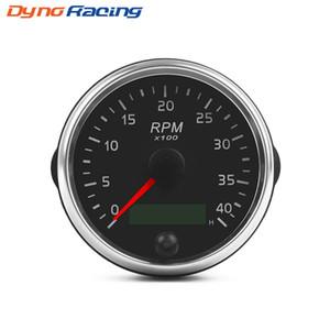0-4000RPM 디젤 타코미터 85mm의의 RPM 게이지 황색 / 화이트 라이트 유속계 미터와 LCD 아워 미터를 들어 자동차 보트 오토바이