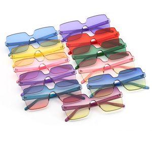 2018 neue quadratische randlose sonnenbrille bunte rahmen und schrittweise linsen coole vintage mode sonnenbrille unisex design 11 farben