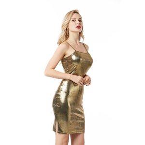 Abiti Party Night Club Condole sexy metallo colore brillante The Milk Silk Large Size multicolore abiti vento europee