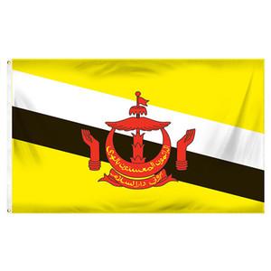 3x5ft 150x90cm Flagge von Brunei Digital gedruckte Polyester Hanging Werbung Nutzungs Banner, Outdoor Indoor, freies Verschiffen
