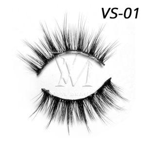 Vmae 16MM إلى 19MM 3D 5D 6D الطبيعية لينة فو المنك جلدة سميكة الطبيعية الصليب اليدوية الحرير الكاذبة الاصطناعية المنك الرموش