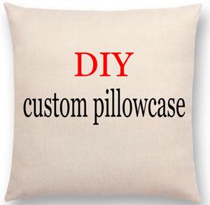 맞춤 베개 사진 또는 자동차 의자 소파 베개 커버 리넨 코튼 베개 케이스 쿠션 홈하기 Textil 인쇄 데코 패턴
