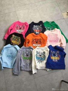 الأطفال ملابس الطفل البلوزات 2020 الخريف أحدث موضة الأطفال القطن الصوفية كنزة المتأنق النمر رئيس التطريز على Sweatershirt الاطفال