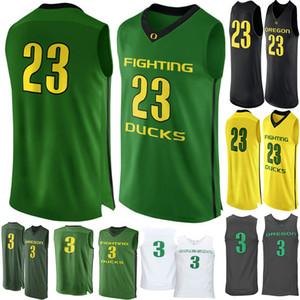 3 Payton Pritchard Oregon Ducks nNo.23 Hombres baloncesto de la universidad de New bordado atlético para hombre Deporte tamaño de los jerseys S-3XL