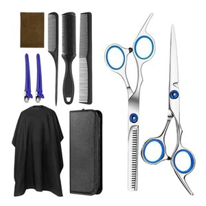 Professional Hair Cutting Scissors Set Thinning Shears Hairdressing Scissors Kit