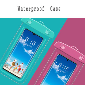 Sac étanche tactile Natation téléphone à écran étanche en PVC mobile Housse portable Téléphone transparent Téléphone portable Sac étanche