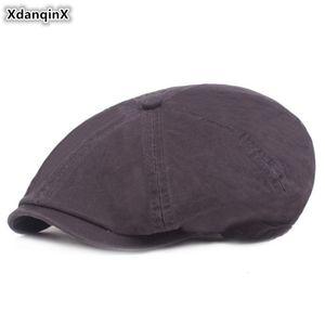 XdanqinX Pamuk erkek Şapka Bereliler Edebi Gençlik Şapka Moda Basit Erkek baba Bere Şapka Kapaklar Sombrero De Hombre Snapback Kap