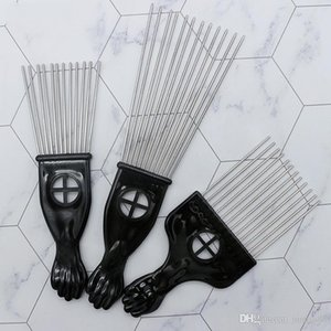2019new Retro Oil head Professional Flat Comb Fork Pick Steel needle Pick Hair flat comb Hairdressing Styling Tools barber brush