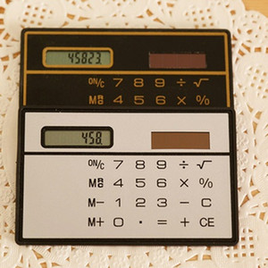 Pro Slim Credit Card Cheap Solar Power Pocket Calculator Novelty Small Travel Compact