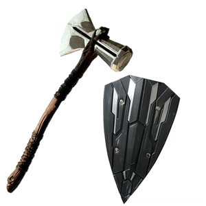 1 1 Thor Çekiç AxCosplay Rol Film WarThor Thunder Şekil Modeli PLUTON Oyuncak 73 Şişme Bouncers Playhouse S