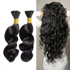 Human Hair For Micro Braids Loose Wave Bulk For Braiding No Weft 9A Loose Wave Bulk Hair Extensions
