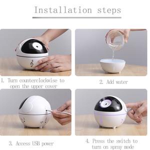 350ml Mini Music Mute Quiet Air health Humidifier Diffuser Mist Humidifiers Moisturize Skin Ball Design Sleep for Home Car office