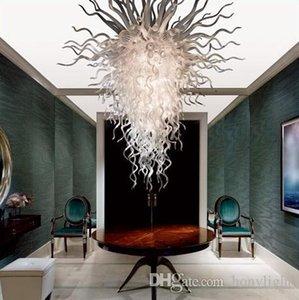 White Glass Chandelier Style LED Bulbs Home Decoration Living Room Lights Suspension Hanging Pendant Light Glass Pendant Lamp