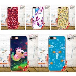 Cute personnalisés cas Axolotl Noir TPU animal pour HTC Desire 626 628 630 530 816 820 830 Un A9 M7 M8 M10 M9 E9 U11 U12 Life Plus
