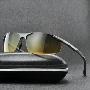 MINCL  2020 Men Day Night Dual-Use Polarized Sunglasses Car Driving UV400 Sun Glasses Fashion Eyewear with box FML