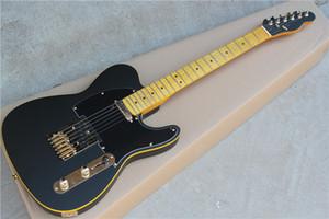 gytl-2032 de alta qualidade em preto fosco com hardware do ouro fretboard bela guitarra Telecaster, transporte customizáveis, livre