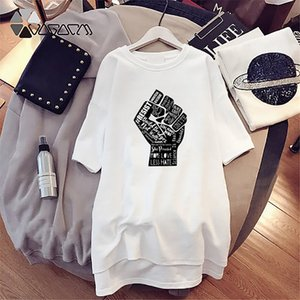 Womens Fashion Dress Black Lives Matters Dresses Womens Casual Half Sleeve Outdoor Dress Letters Printing Dress 2 Color
