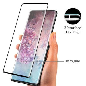 3D curvo vidrio templado para el Samsung Galaxy S8 S9 S10 Plus Note8 Note9 Nota 10 Plus S20 Plus Ultra P30 Mate30 Pro