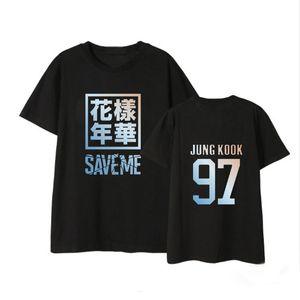 Kpop joven para siempre Sálvame camisas Hip Hop informal sueltos ropa camiseta camiseta de manga corta Tops camiseta DX896