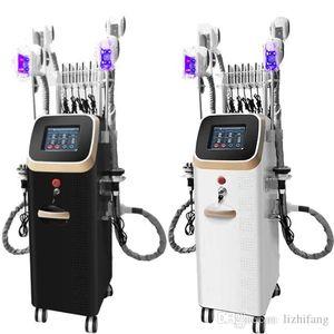 Potente criolipólisis cuerpo de la máquina de adelgazamiento de cavitación máquina de conformación por rayo láser RF equipo de la belleza fresca 4 asas Cryolipolysis máquina