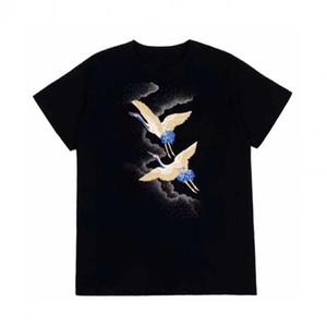 Мода Мужская футболка Летняя футболка высокого качества Mens Стилист Футболка Hip Hop Мужчины Женщины Черный Короткие рукава Тис Размер S-XXL