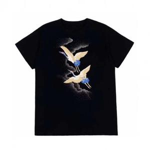 Moda hombre T-shirt camiseta del verano hombre de alta calidad estilista camiseta de Hip Hop Hombres Mujeres Negro camisetas de manga corta del tamaño S-XXL