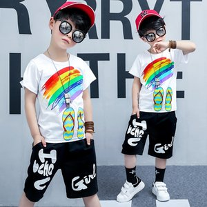 HOT SELL classic New Style Children's Clothing For Boys 2-11 years And Girls Sports Suit Baby Infant Short Sleeve Clothes Kids Set ACDE