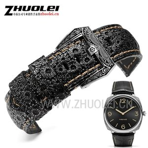 High-quality Luxury Band 22mm 24mm 26mm Retro Watchband Watch Strap For PAM mens wrist-watches band leather bracele