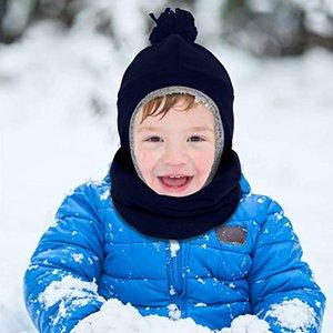 3pcs bébé d'hiver Set chaud enfants micro-polaire Pilot Hat Mitten et écharpe Camping Thermal Toison Hat