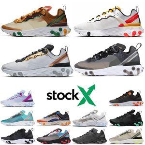Nike react element 87  Laufschuhe schwarz weiß sportlich Outdoor Sports Jogging Schuhe Trainer Geschwindigkeit Frauen Schuh versandkostenfrei