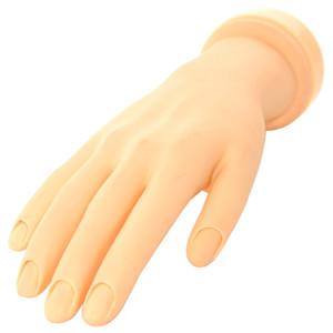 Nail manicure mano pratica di arte del chiodo di formazione Nail Art Practice mano punte flessibile mobile morbide falsi Mani per Acrylic Nails riutilizzabile NA178